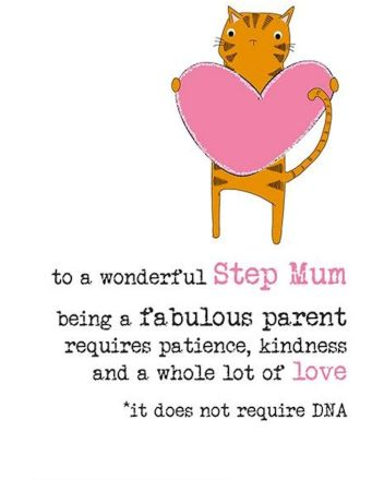 Dandelion Step Mum Love Not DNA Mothers Day Card