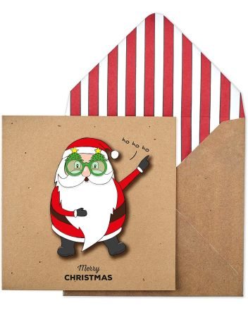 Tache Funky Santa Christmas Card