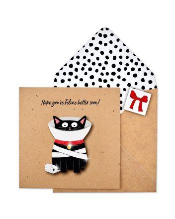 Tache Black Cat Get Well Soon Card