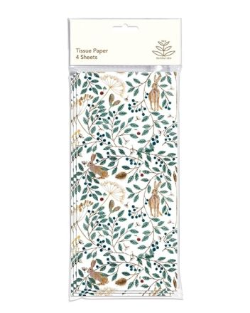 Hares and Berries Tissue Paper