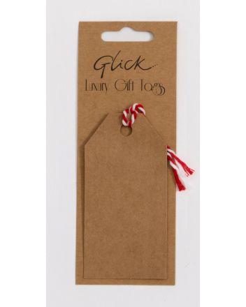 Glick 6 Luggage Kraft Gift Tags