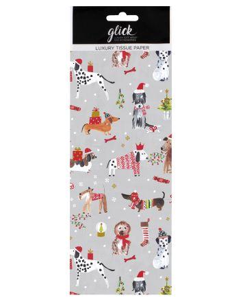 Luxury Festive Dogs Christmas Tissue Paper