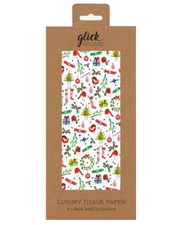 Glick Festive Trimmings Christmas Tissue Paper