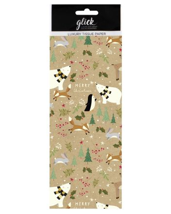Glick Forest Friends Christmas Tissue Paper