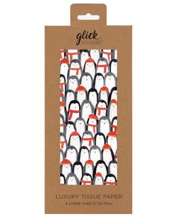 Glick Cozy Penguins Christmas Tissue Paper