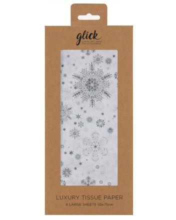 Glick Silver Snowflake Christmas Tissue Paper