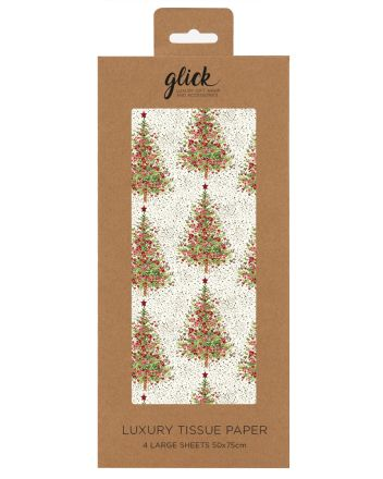 Glick Fir Tree Christmas Tissue Paper