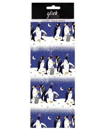 Luxury Pizazz Penguins Christmas Tissue Paper