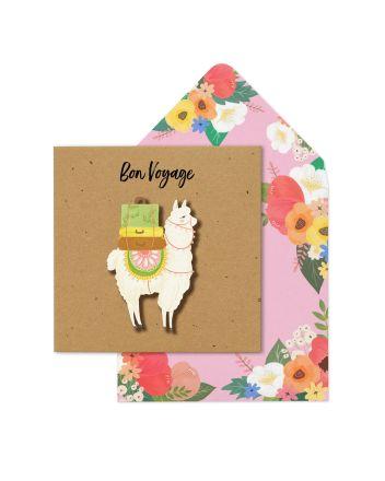 Tache Alpaca Bon Voyage Card