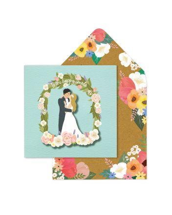 Tache Happy Couple Wedding Card