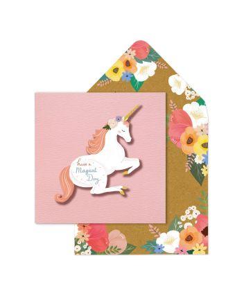 Tache Unicorn Magical Birthday Card