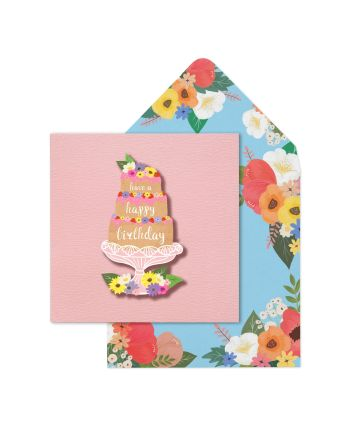 Tache Layered Cake Birthday Card