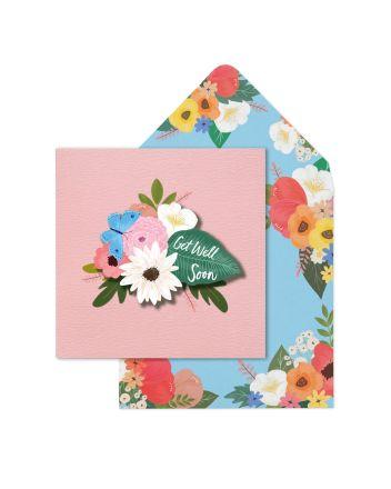Tache Flowers Get Well Soon Card