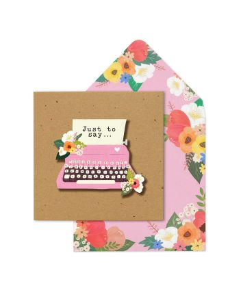 Tache Typewriter Just To Say Greeting Card