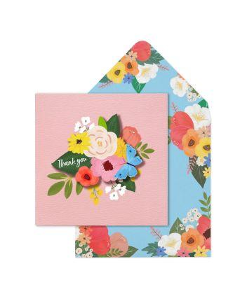 Tache Flowers Thank You Card