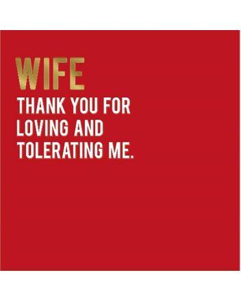 Alice Scott Wife Tolerating Me Valentine Card