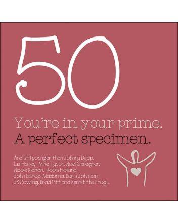 Wordies Celebrities 50th Birthday Card
