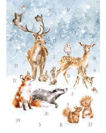 Wrendale Winter Wonderland A4 Advent Calendar