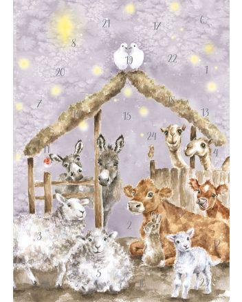 Wrendale Away in a Manger A4 Advent Calendar