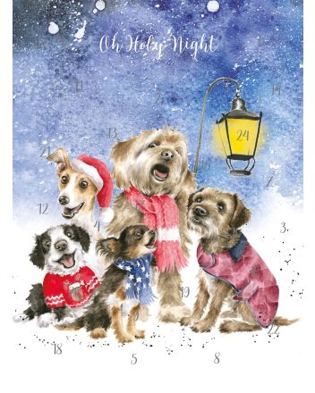 Wrendale Dogs Christmas Carol Singers A4 Advent Calendar
