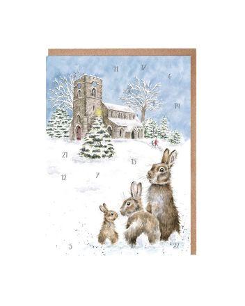 Wrendale Hares in Church Yard Advent Calendar
