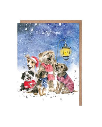 Wrendale Dogs Christmas Carol Singers Advent Calendar