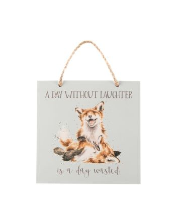 Wrendale Foxes A Day Without Laughter Plaque