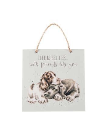 Wrendale Dogs Life is Better Plaque