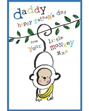 Nigel Quiney Little Monkey Fathers Day Card