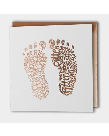 Paper Sole Pitter Patter New Baby Card