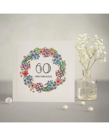 Mrs Lovesy Fabulous 60th Birthday Card