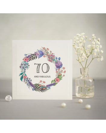 Mrs Lovesy Fabulous 70th Birthday Card