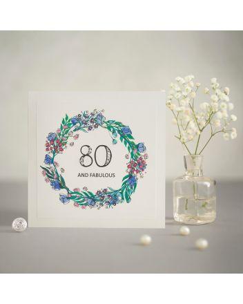 Mrs Lovesy Fabulous 80th Birthday Card