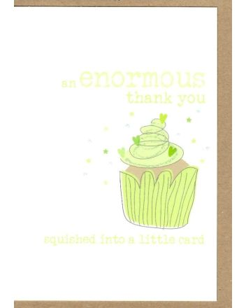 Dandelion Cup Cake Thank You Card