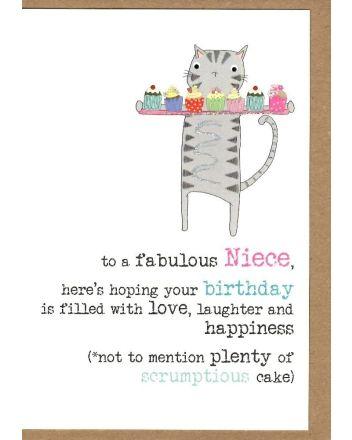 Dandelion Fabulous Niece Birthday Card