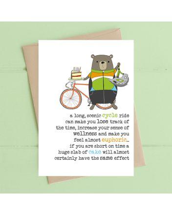 Dandelion Scenic Cycle Ride Birthday Card
