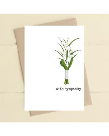 Dandelion Lilies With Sympathy Card