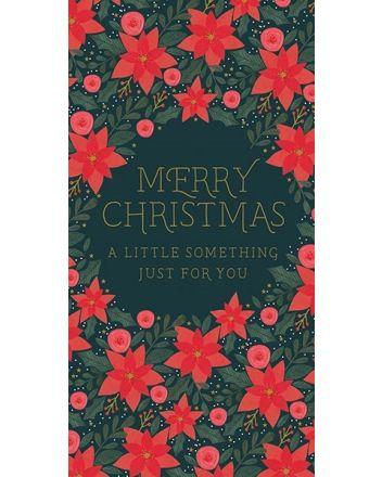 Art File Poinsetta Christmas Money Wallet