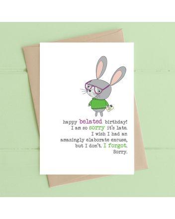 Dandelion Happy Belated Birthday Card