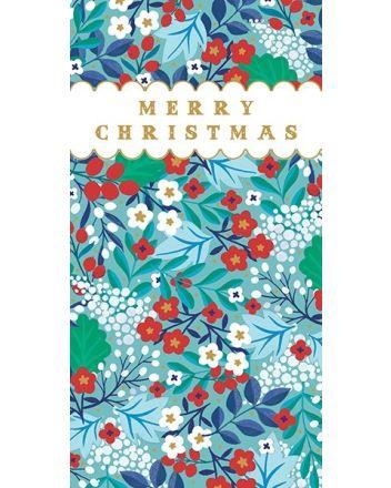 Art File Flowers Merry Christmas Money Wallet