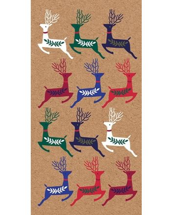 Art File Kraft Reindeer Christmas Money Wallet