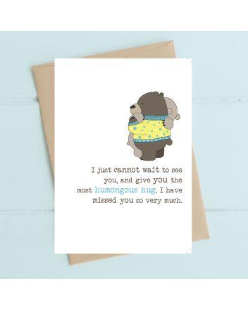 Dandelion Bears Humongous Hug Birthday Card