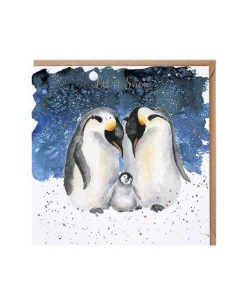 Wrendale Penguin Family Christmas Card