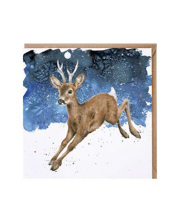 Wrendale Deer in the Snow Christmas Card