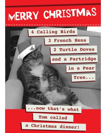 Second Nature 4 Calling Birds Christmas Card