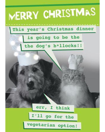 Second Nature Vegetarian Option Christmas Card