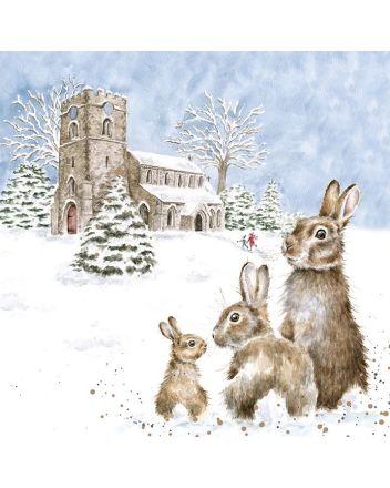 Wrendale Church Yard Hares Christmas Cards