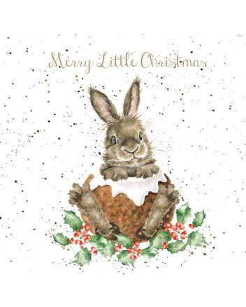 Wrendale Rabbit in the Pudding Christmas Cards