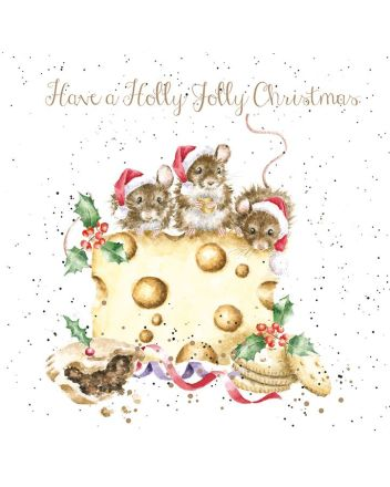Wrendale Feasting Mice Christmas Cards