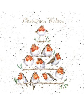 Wrendale Tree of Robins Christmas Cards